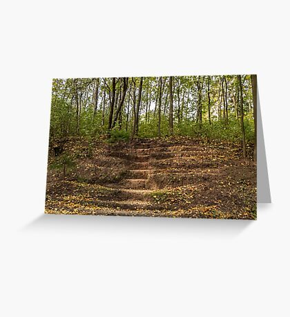 Stairs dug earth Greeting Card