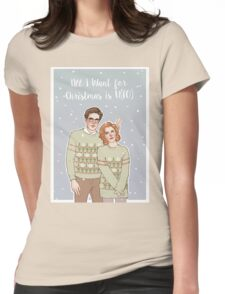 all i want for xmas is u(fo) Womens Fitted T-Shirt