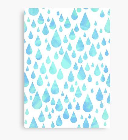 Hydrangea Rain - Sea Green  Canvas Print