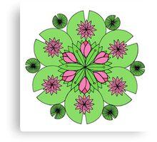 DejaLulu Pond Lotus Mandala Canvas Print