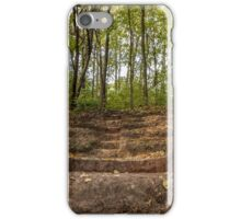 Stairs dug earth in forest iPhone Case/Skin
