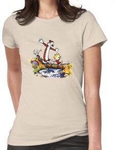 Calvin&Hobbes funny T-shirt Womens Fitted T-Shirt