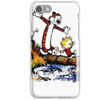 Calvin&Hobbes funny T-shirt iPhone Case/Skin