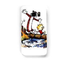 Calvin&Hobbes funny T-shirt Samsung Galaxy Case/Skin