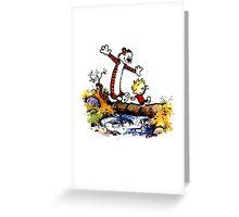 Calvin&Hobbes funny T-shirt Greeting Card