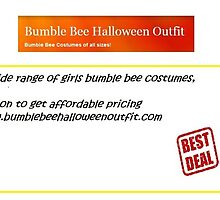 Girls Bumble Bee Costume - www.bumblebeehalloweenoutfit.com by halloweenoutfit