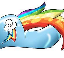 Rainbow Butt by kelsmister