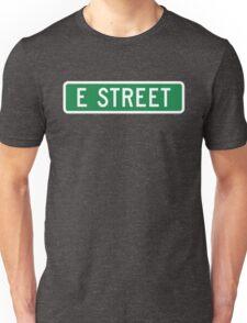 E Street, vintage street sign (color version) Unisex T-Shirt