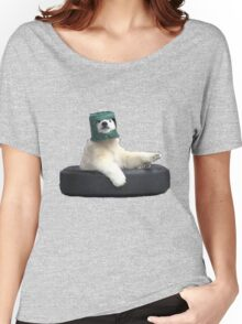 Bucket bear - Polar Bear meme Women's Relaxed Fit T-Shirt