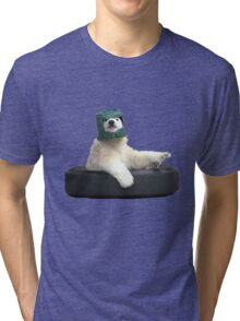 Bucket bear - Polar Bear meme Tri-blend T-Shirt