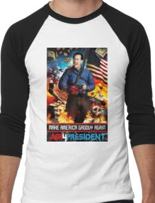 ash for president  Men's Baseball ¾ T-Shirt