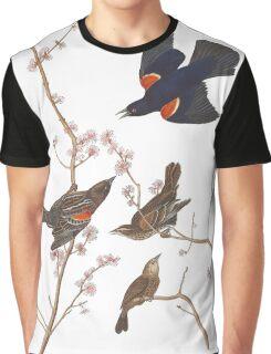 Red-winged Blackbird - John James Audubon Graphic T-Shirt