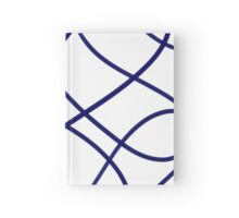 Navy Blue Squiggles Hardcover Journal