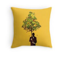 The ethical gentleman yellow Throw Pillow