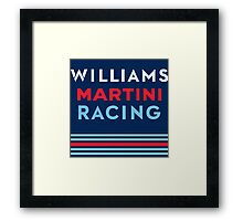 Williams Martini Racing F1 Framed Print