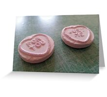 Love Hearts: For You Just Me Greeting Card