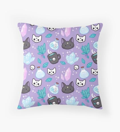 Herb Witch Throw Pillow