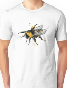 Bumble bee illustration in watercolour Unisex T-Shirt