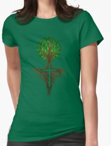 Rooted in Christ Womens Fitted T-Shirt