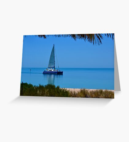 Sailing at Monkey Mia Greeting Card