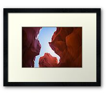 Red Walls - Nature Photography Framed Print