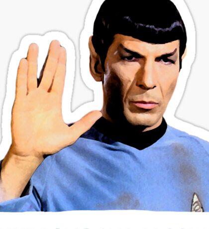 Spock - Live Long And Prosper - Star Trek Sticker