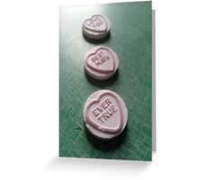 Love Hearts: Love You, Best Mate, Ever True Greeting Card