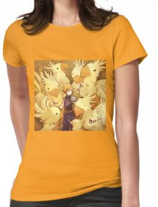 Cloud & Chocobo Womens Fitted T-Shirt