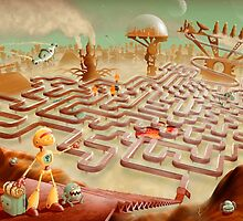 robot city maze by Richard Morden