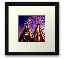 Save America First. The End Times Festival. Framed Print
