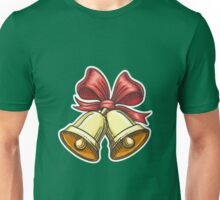 Paper Cut Jingle Bells Emblem Unisex T-Shirt