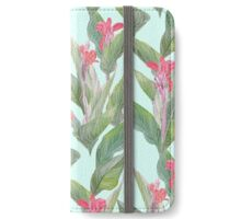 tropical flower canna iPhone Wallet/Case/Skin
