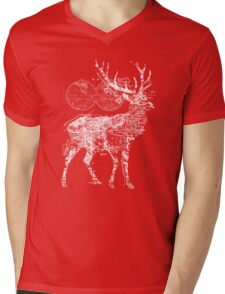 Deer Wanderlust Mens V-Neck T-Shirt