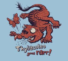 Thylacoleo goes rarr! - megafauna t-shirt Kids Clothes