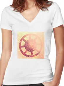 Through the Looking Glass Women's Fitted V-Neck T-Shirt