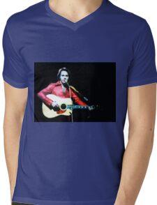 Young Neil Diamond Mens V-Neck T-Shirt