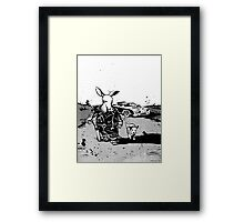 the road aardvark Framed Print