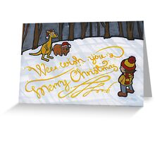 Wee wish you a merry Christmas Greeting Card