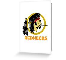 rednecks football parody Greeting Card