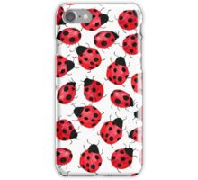 Cute Red Ladybugs - Watercolor Ladybugs  iPhone Case/Skin