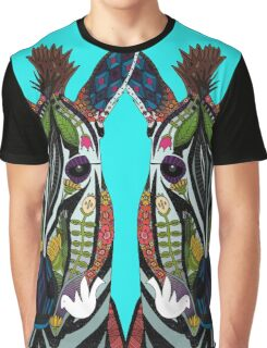 zebra love turquoise Graphic T-Shirt