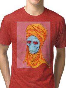 Duros Woman with head Scarf Tri-blend T-Shirt