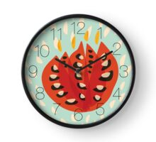 Abstract Red Tulip Clock