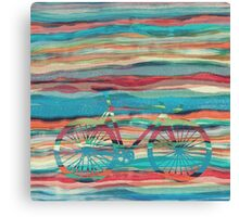 the super hipster fixie silhouette  Canvas Print