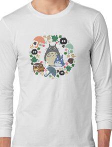 Green Totoro Wreath - My Neighbor Totoro Long Sleeve T-Shirt