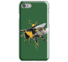 Bumble bee illustration in watercolour iPhone Case/Skin
