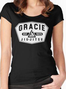 Gracie Brazilian  Jiu Jitsu martial arts EST 1925 Women's Fitted Scoop T-Shirt