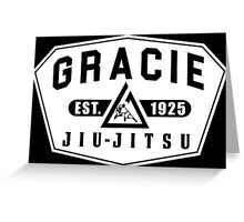Gracie Brazilian  Jiu Jitsu martial arts EST 1925 Greeting Card