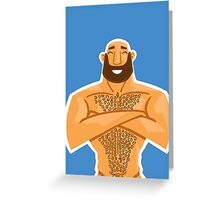 HAPPY HAIRY BEAR VERSION 1.2 Greeting Card