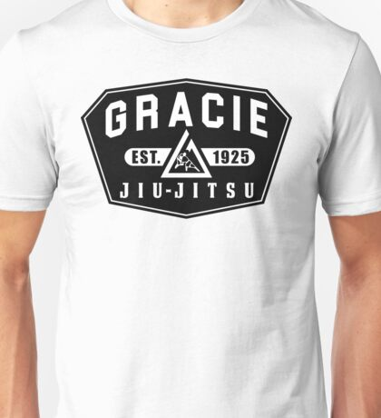 Gracie Brazilian  Jiu Jitsu martial arts EST 1925 black Unisex T-Shirt